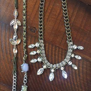 TWO Ann Taylor Loft necklaces